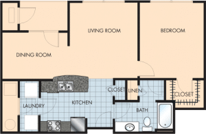 1 Bed / 1 Bath / 882 sq ft / Rent: $1,380