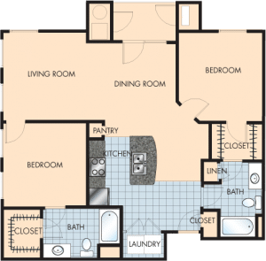 2 Bed / 2 Bath / 1,204 sq ft / Rent: $1,685
